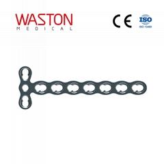2.4 微 T 型锁定加压接骨板(头3孔) 锁定板 骨科 植入物 微型 接骨板