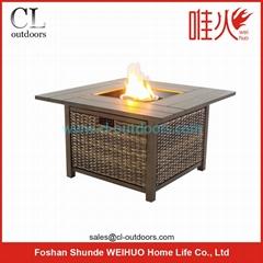 square LPG fire pit table