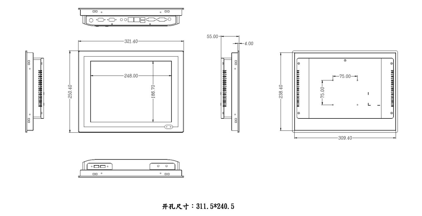 點微/DW-121TPC-K5Z工業觸摸一體機平板電腦 4