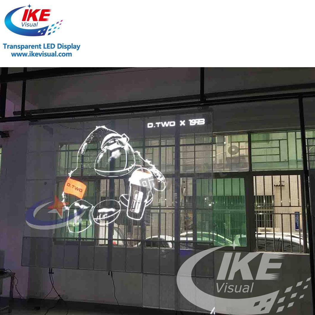 Waterproof IP65 Glass Transparent LED Screen Display 2