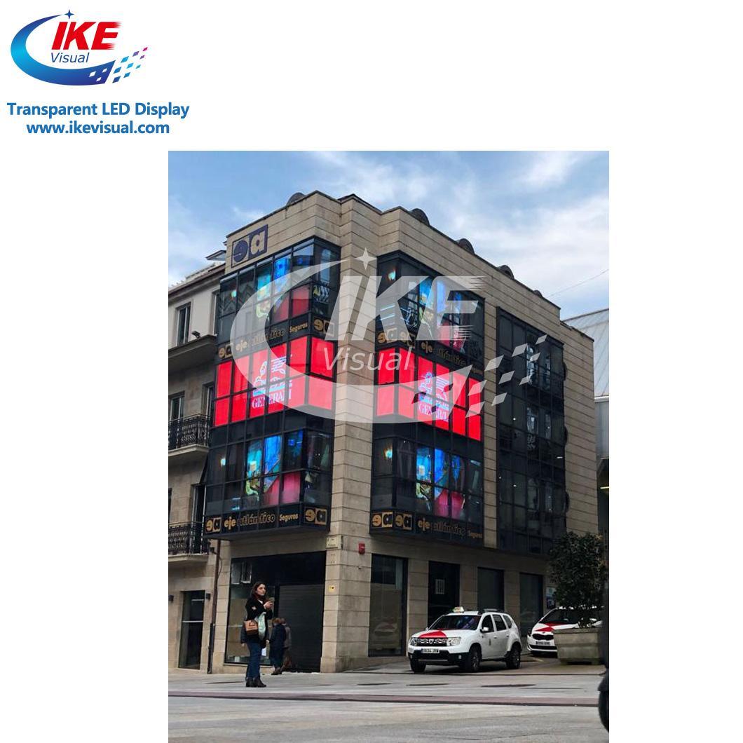 Waterproof IP65 Glass Transparent LED Screen Display 4