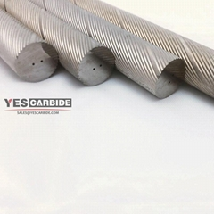 tungsten carbide rods spiral coolant holes 30 degree helix carbide rods