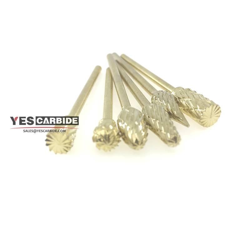 tungsten carbide rotary burrs Drill Bits Nail Art Field Gold File Broach Bit 2