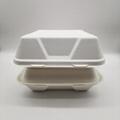 9 inch Biodegradable Bagasse Hamburger Box Food Packaging Clamshell Take away F 2