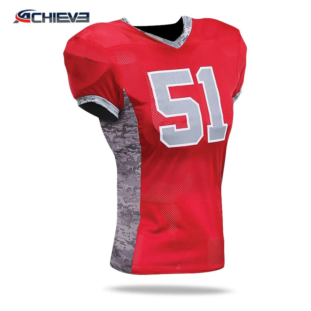 Cheap Wholesale Sublimation custom blank american football jerseys 1