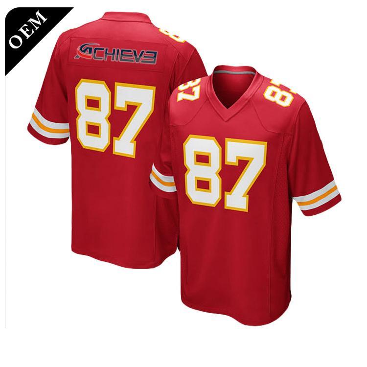 Cheap Wholesale Sublimation custom blank american football jerseys 3