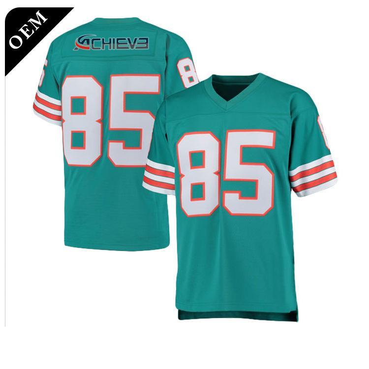 Cheap Wholesale Sublimation custom blank american football jerseys 5