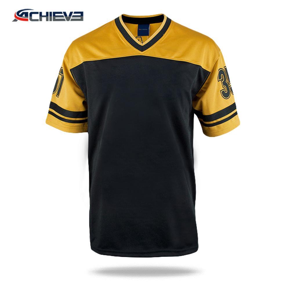 2019 Hot selling dri-fit mesh football uniforms adult retro american football go 4