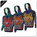 Custom Mens 3D Printed Pullover Hoodies All Over Printing Polyester Hooded Sweat 4