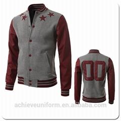 Fashion Custom varsity jackets winter baseball jacket  sport jackets men 2019