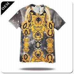Short sleeve men unisex oem logo blank plain custom cotton t shirt sweatproof an