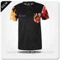 Short sleeve men unisex oem logo blank plain custom cotton t shirt sweatproof an 4