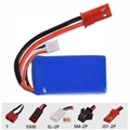 High rate 703048 20C 7.4v 800mah rc helicopter battery with connector