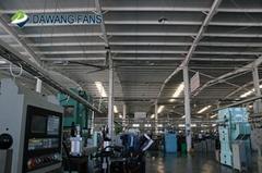 24ft big ventilation industrial hvls ceiling fan with 5 blades