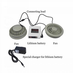 6v/12V brushless air-condition cooling fan with rechargeable battery for summer