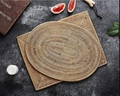 Ellipse Traditional Straw Rattan Place Mats Vietnam Braided Tableware For Kitche