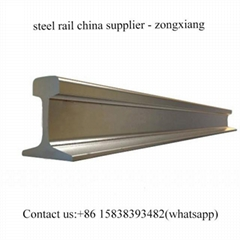 55q/q235 GB standard light steel rail track 8kg/m steel rail track for sale
