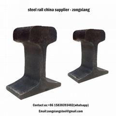 50Mn U71Mn GB standard heavy steel rail track 38 kg steel rail track for sale