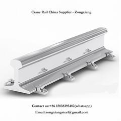 U71Mn GB standard crane steel rail track QU100 steel rail track for sale