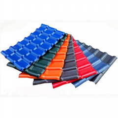 ASA Sythetic Resin Roof Tile UPVC Spanish Roofing Sheet
