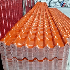 ASA Spanish Synthetic Resin APVC Roof Tile Width 1050mm