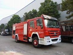 Sinotruck Howo 4*2 Water powder and foam Fire Truck