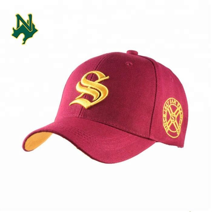 Promotional Baseball Cap Custom New Embroidered Red Baseball Era Cap