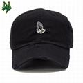 Promotional Price Denim Baseball Cap Custom Embroidery Logo Distressed Dad Hats