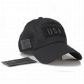 Custom camouflage mesh cap special tactical operator USA flag patch side embroid 2