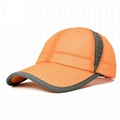 Wholesale solid color mesh baseball caps breathable quick dry trucker hat sun vi