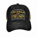 Hot Sale Veterans Trump Hat Distressed Custom Embroidery Trucker Dad Hat