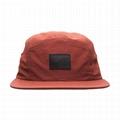 Custom nylon 5 panel hat flat brim lightweight adjustable snap closure sun visor