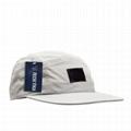 Custom nylon 5 panel hat flat brim