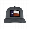 Factory Price Custom Embroidered Baseball Cap Texas State Flag Patch Gray White