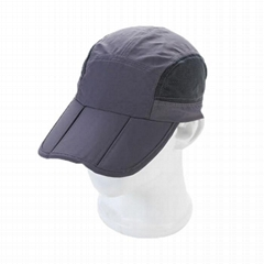 5 panel Folding long bill baseball cap Multi color sports mesh sports cap