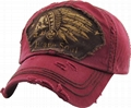 Embroidered Dad Hat Collection Distressed Washed Cotton Baseball Cap