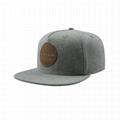 Custom Leather Patch Logo Snapback Hats