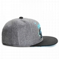 Fashion 5 Panel Caps Parts Flat Embroidery Bear Flat Brim Snapback Hats Sample