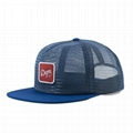 Trucker Snapback Mesh Cap Hat Embroidery Patch Blue Mesh
