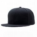 Custom logo baseball cap new color era sports cap Own design black snapback cap 2