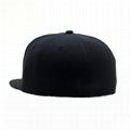 Custom logo baseball cap new color era sports cap Own design black snapback cap 4