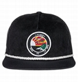 Boomer Corduroy Rope Unstructured Snapback Adjustable Hat Woven Label Patch Hat