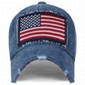 Cool Baseball Hats embroidery USA flag patch long bill men sun visor hat 4