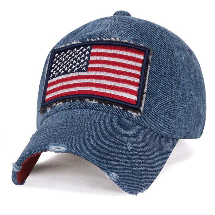 Cool Baseball Hats embroidery USA flag patch long bill men sun visor hat 5