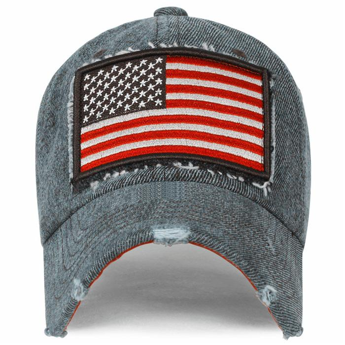 Cool Baseball Hats embroidery USA flag patch long bill men sun visor hat 3