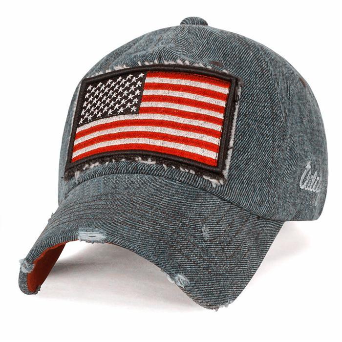 Cool Baseball Hats embroidery USA flag patch long bill men sun visor hat 1