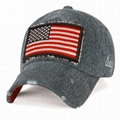 Cool Baseball Hats embroidery USA flag patch long bill men sun visor hat