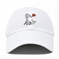 Wholesale Custom Embroidery Prayer Hands Hat Baseball Cap Rose Dad Hats White  2