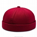 Cotton Brimless Hats Docker Cap Rolled Cuff Harbour Retro Hat With Adjustable