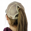Custom patch ponytail baseball cap plaid quilted truck women sport caps
